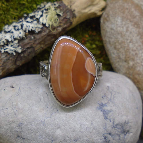 Scottish Agate Sterling Silver Celtic Ring