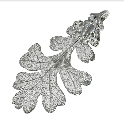 Oak Silver Pendant