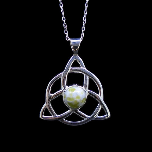Iona Marble Celtic Knot Sterling Silver Pendant