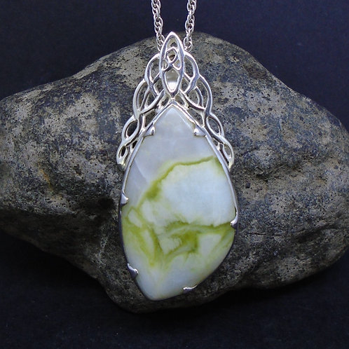 Highland Marble Celtic Waterfall Sterling Silver Pendant
