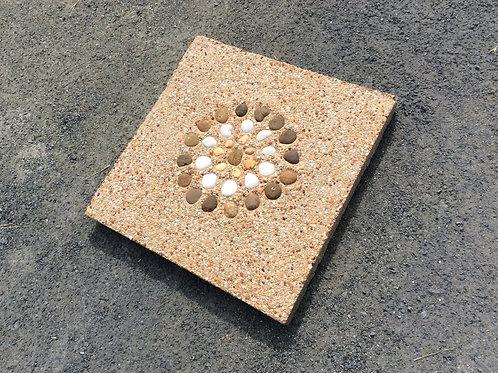 แผ่นทรายล้างดอกกรวดกลาง 40x40x4ซม. #2