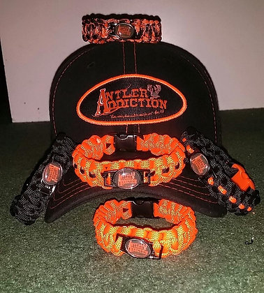 Antler Addiction Paracord Bracelet w/ Charm