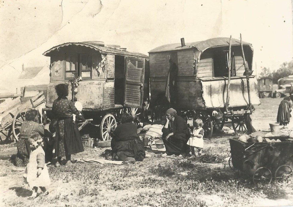 Arrivée de la famille Kreninger à Aigues Mortes