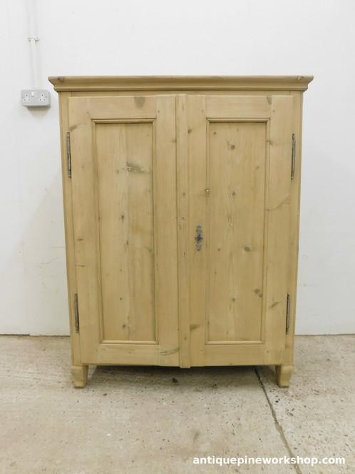antique pine cupboard - Antique Pine Genuine Old Antique Pine Two Door Cupboard Cushions