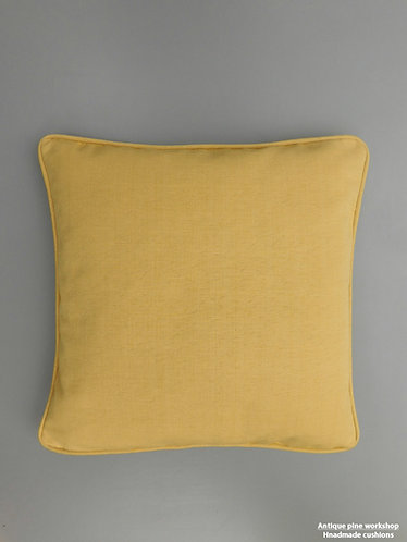 Vintage cushion ochre cotton fabric