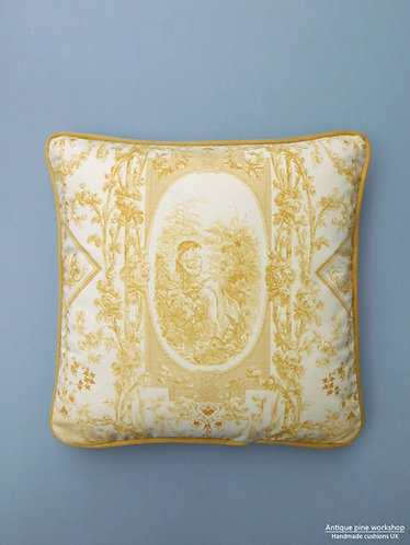 Vintage cushion Titley & Marr four seasons fabric