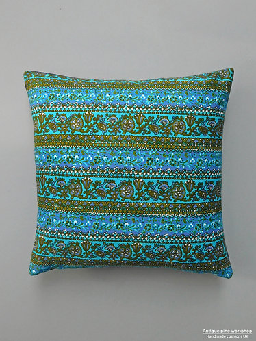 Vintage 1960s fabric cushion cover
