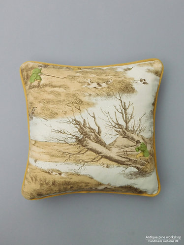 Vintage cushion Lewis and Wood Alken Wildfowlers fabric