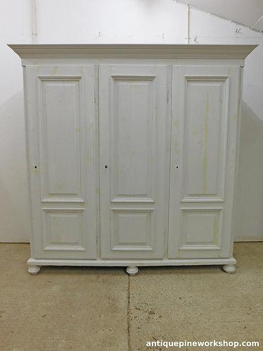 Triple large old pine wardrobe - in preparation