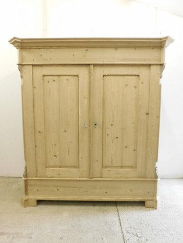 Large stripped antique pine wardrobe