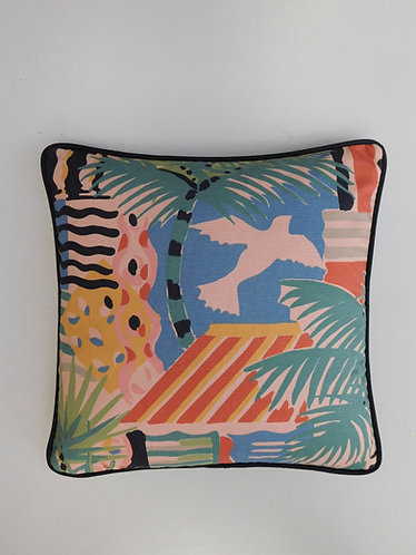 Vintage Collier Campbell Cote d'Azur muted tone fabric cushion cover