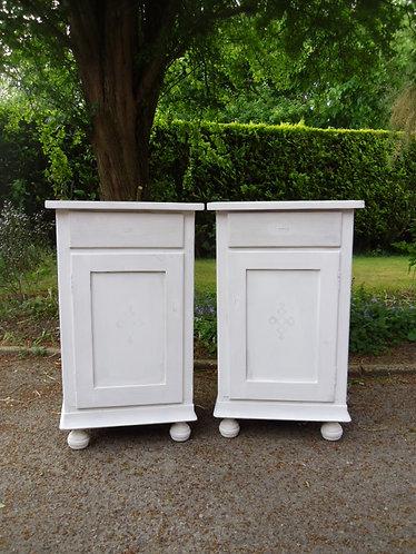 Antique pine pot cupboards