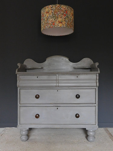 Victorian rustic painted pine washstand chest