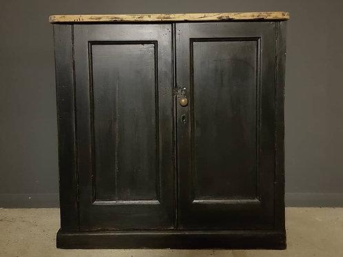 small ebonised cupboard