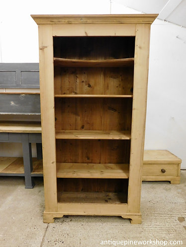 stripped pine bookcase