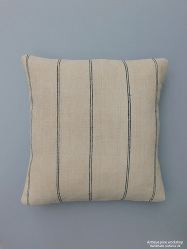 Vintage french linen fabric cushion cover