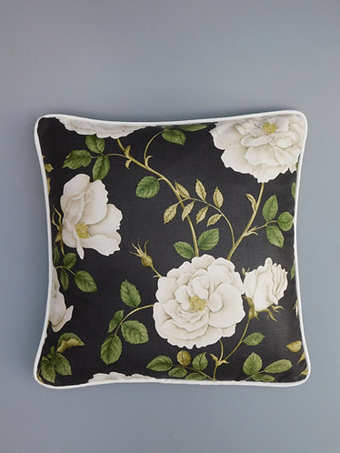 Vintage Sanderson Rosalie glazed cotton fabric cushion cover