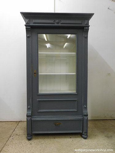 antique pine glazed cupboard