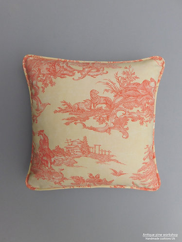 Vintage Sati Le Grand Palais fabric cushion