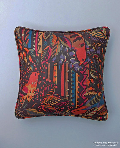 Vintage Liberty Collier Campbell black Birds and bees cushion cover