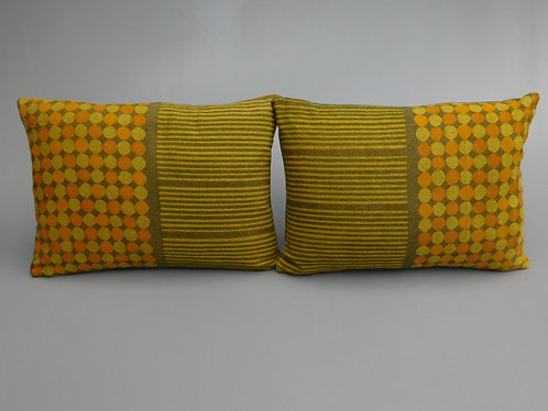 Vintage pair 60s Heals Peter Halls Abacus cushion cover