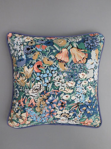 Vintage cushion cover Liberty Cottage Garden Collier Campbell fabric