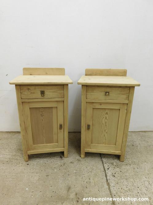 Antique Pot Cupboards Pine Bedside Old Cabinets