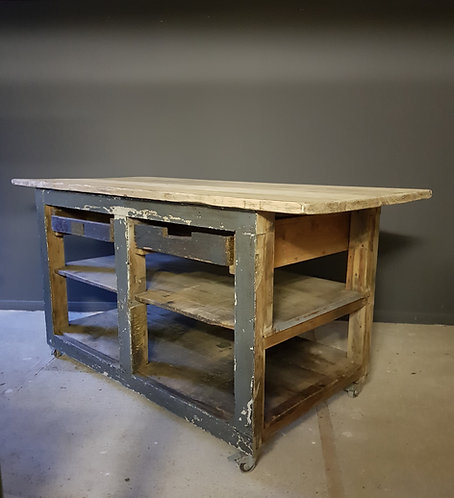 antique french workbench