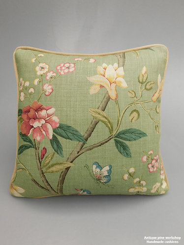 Vintage cushion GP and J Baker Peony & Blossom fabric