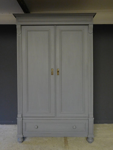 Antique painted pine wardrobe
