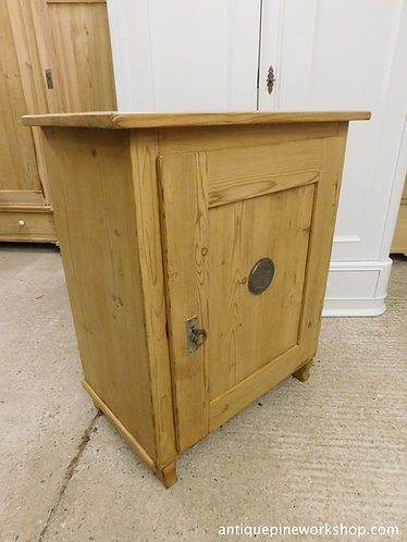 Waxed antique pine cupboard