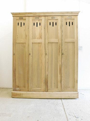 Vintage wooden factory locker