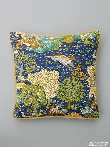 Vintage cushion Sanderson Animal Kingdom fabric