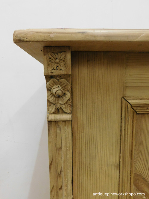 Small antique pine cupboard/base - Antique Old Pine Base Cupboard UK Stripped Pine Cupboards