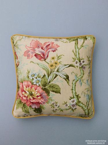 Vintage cushion Heritage of England Longleat fabric