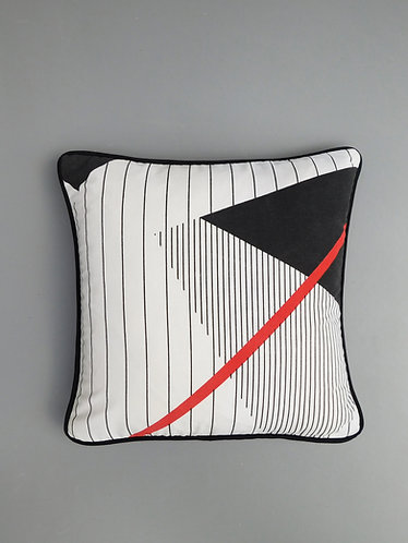 Vintage cushion cover original 1980's retro Memphis style fabric