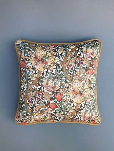 Vintage William Morris Golden Lily Sanderson fabric cushion cover
