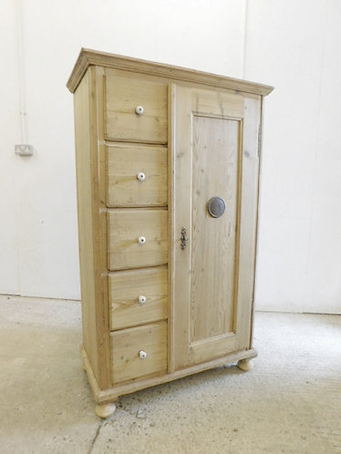 antique pine food cupboard