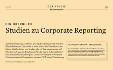 Meine erste Publikation: Studien zu Corporate Reporting