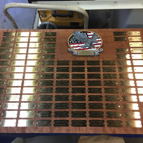 Troop 31 Eagle Plaque