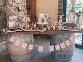 Lake Oak Meadows dessert table
