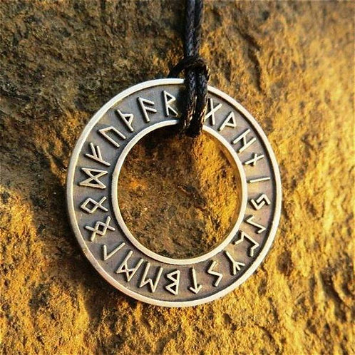 New Viking 316L Stainless Steel Vegvisir Rune Amulet Pendant Necklace for Men's
