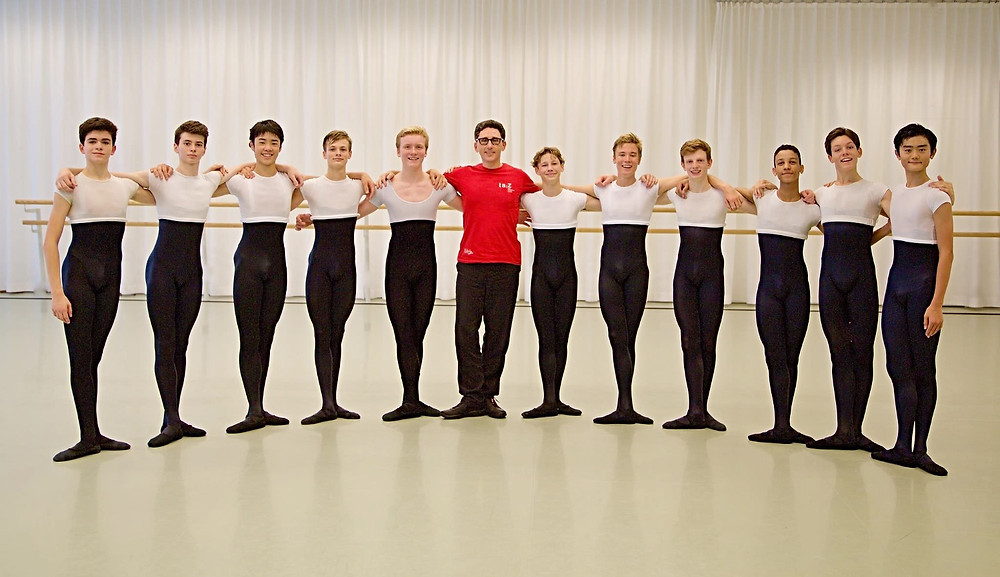 TCDA student Donovan on a scholarship at the Zurich Dance Academy, Switzerland