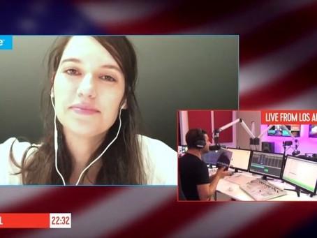 Q-music: Greet Ilegems live via Skype in de show bij Peter Verhoeven