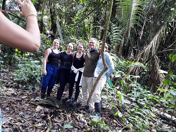 Family group in the Amazon