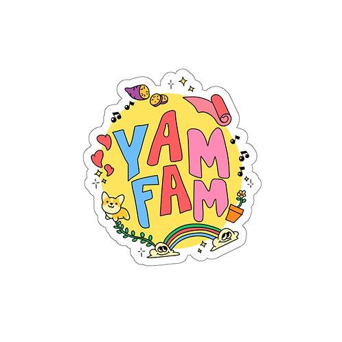 YAM FAM Sticker