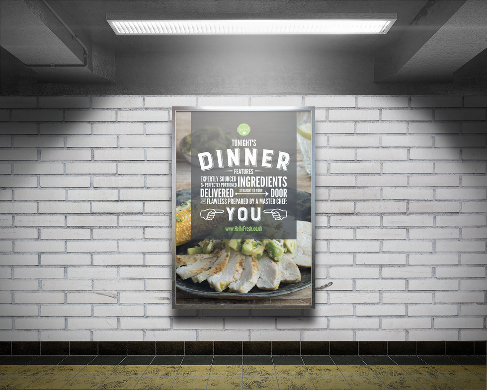Subway Advertising Billboard Mockup Free