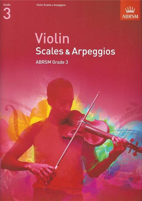 Violin Scales & Arpeggios G3