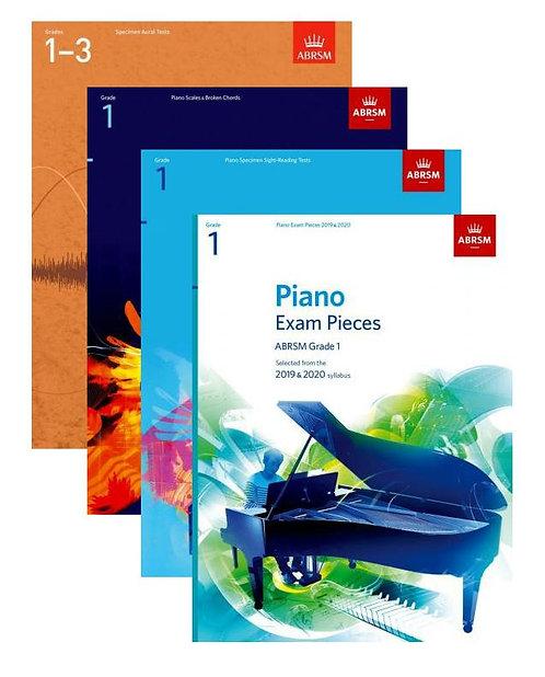 "ABRSM Piano Exam 2019-20 Grade 1 ""Student"" Pack"