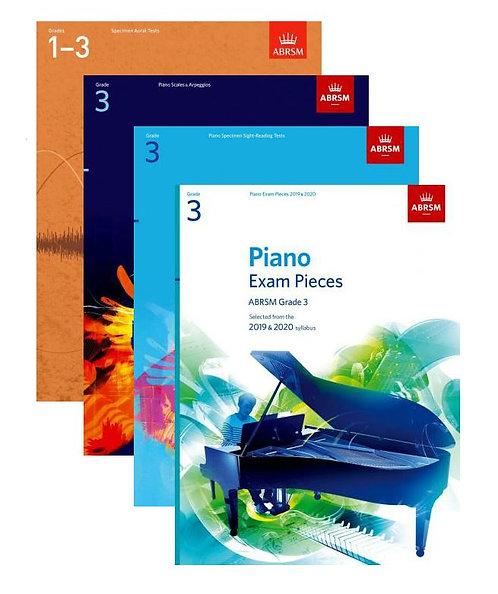 "ABRSM Piano Exam 2019-20 Grade 3 ""Student"" Pack"
